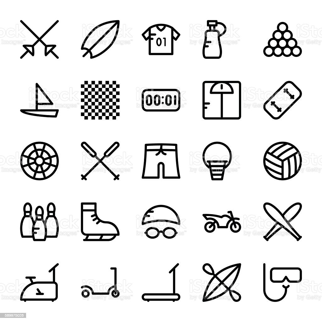 Sports Vector Icons 4 vector art illustration