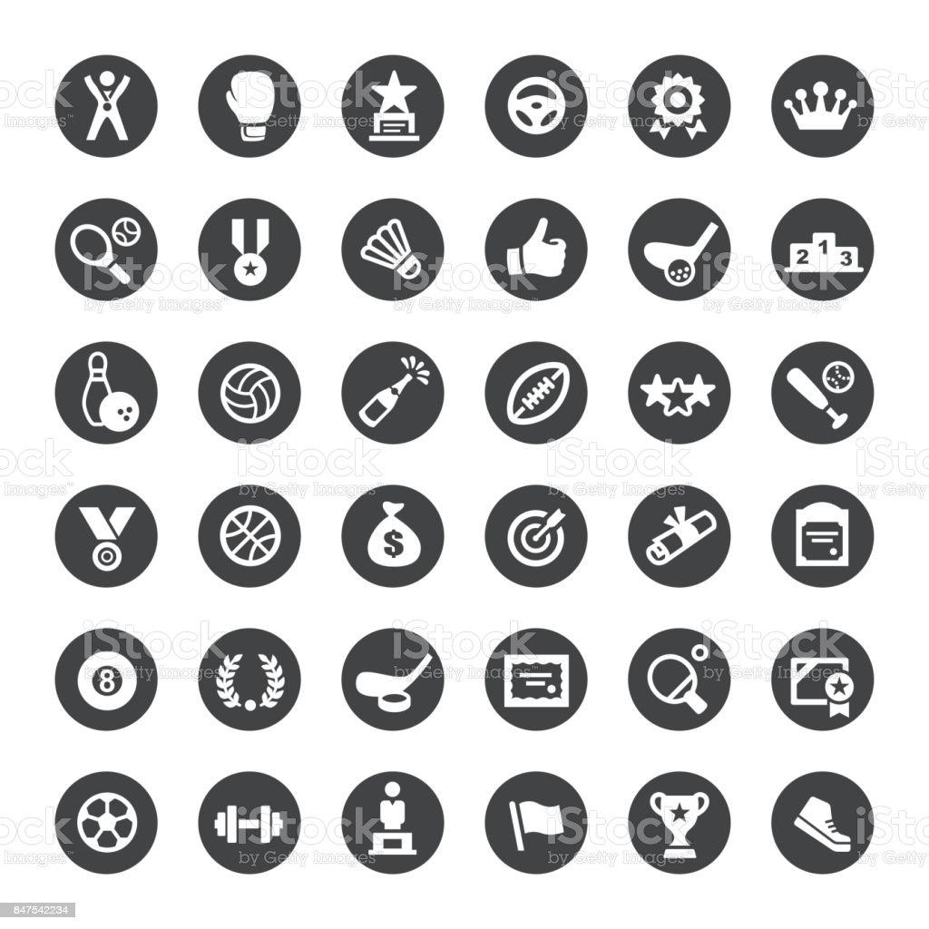 Sports Vector Icons vector art illustration