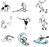 Simple postures of some athletes