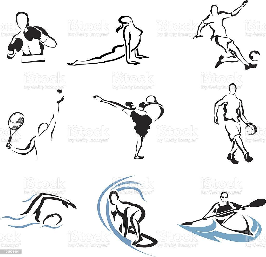 Deportes - ilustración de arte vectorial