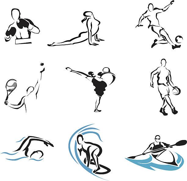 ilustraciones, imágenes clip art, dibujos animados e iconos de stock de deportes - boxeo deporte