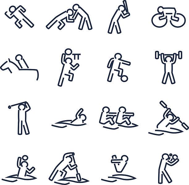 ilustraciones, imágenes clip art, dibujos animados e iconos de stock de deportes - deportes de remo