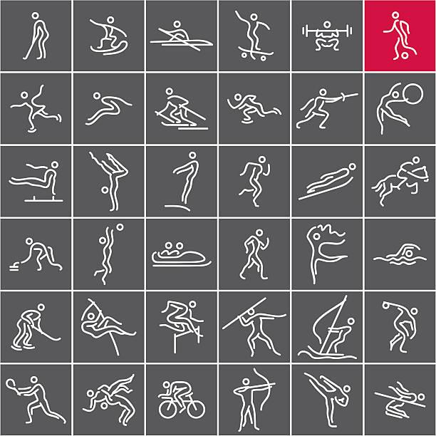 ilustraciones, imágenes clip art, dibujos animados e iconos de stock de deportivo olímpico - deportes de remo