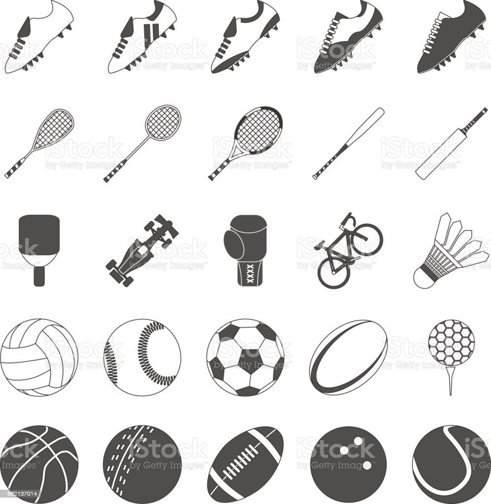 Sports Vector Pack for Symbols and Icons vector art illustration