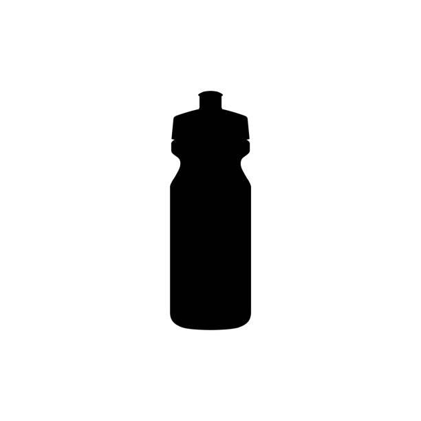 dd5bb4050 ostenta o ícone da garrafa de água isolado no fundo branco - ilustração de  arte em