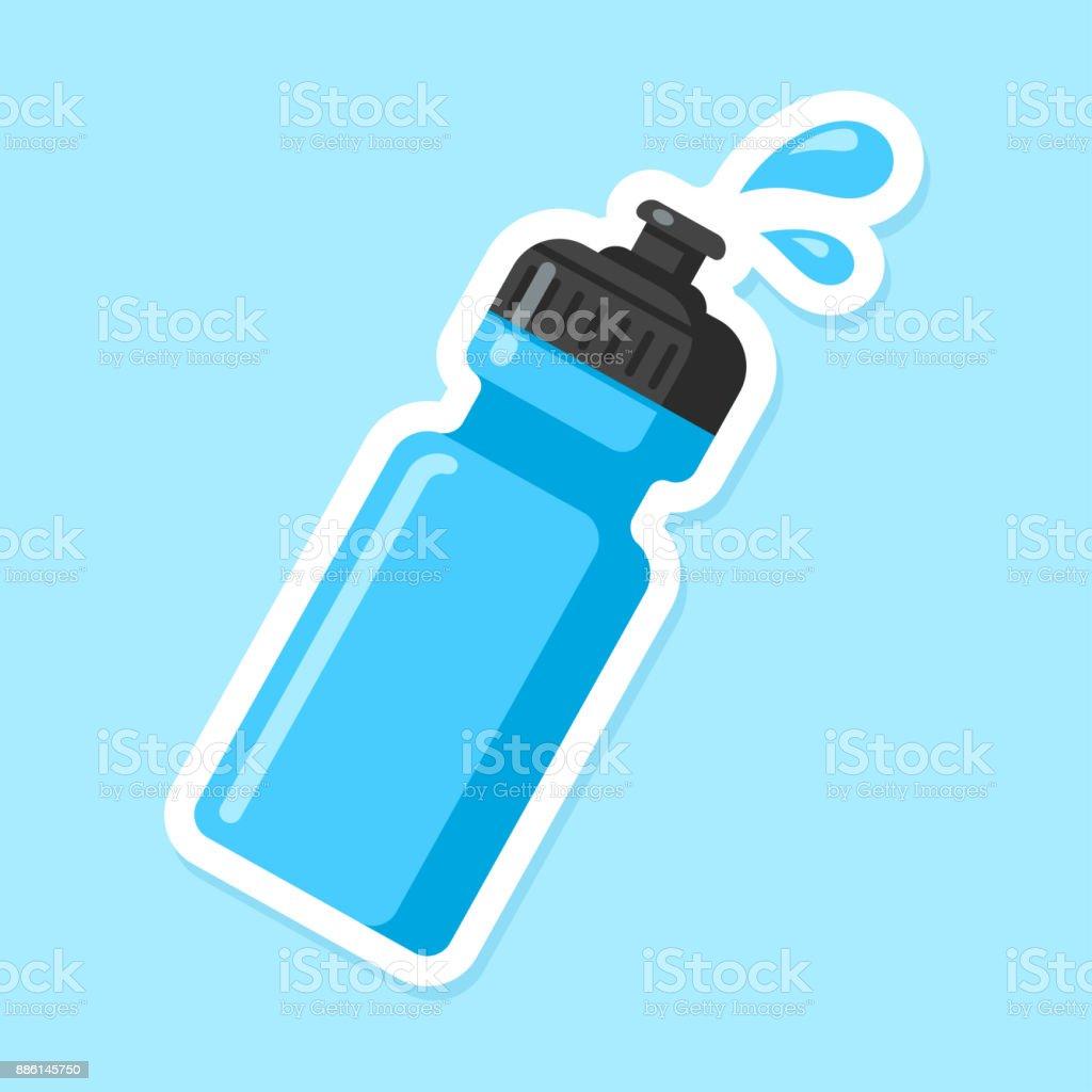 Sports water bottle vector art illustration