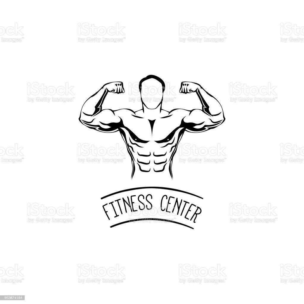 sportsman silhouette character ditness center logo label emblem