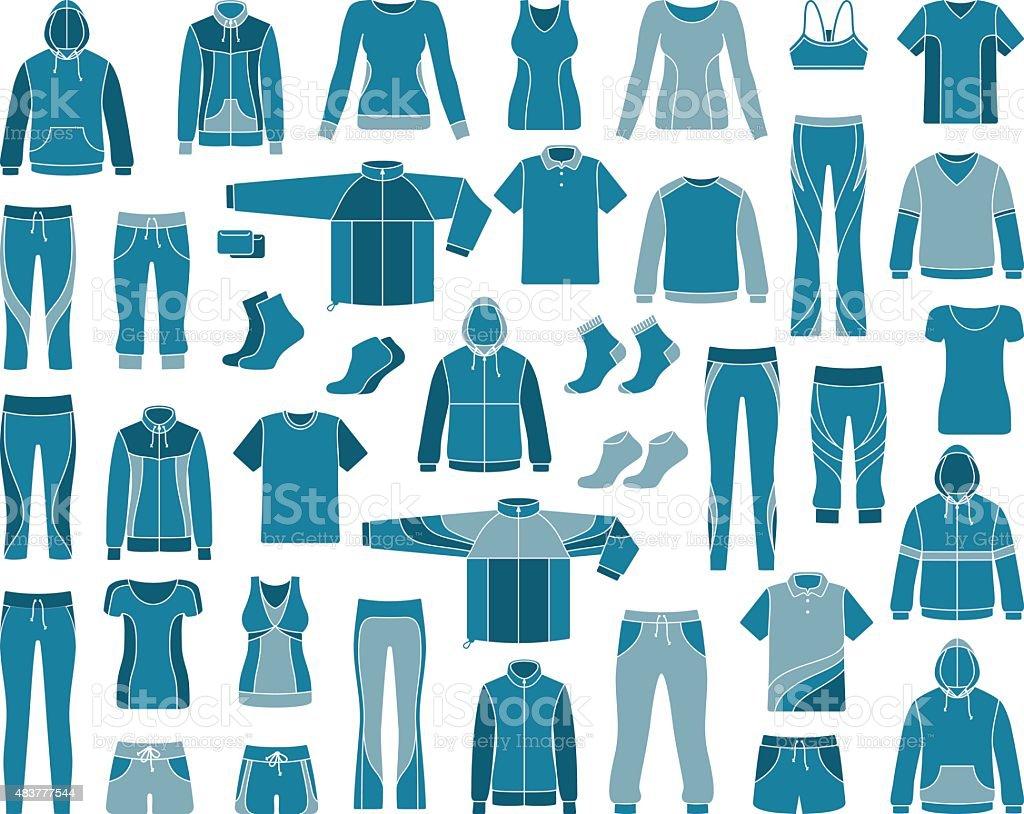 Ropa deportiva ilustración de ropa deportiva y más vectores libres de derechos de 2015 libre de derechos