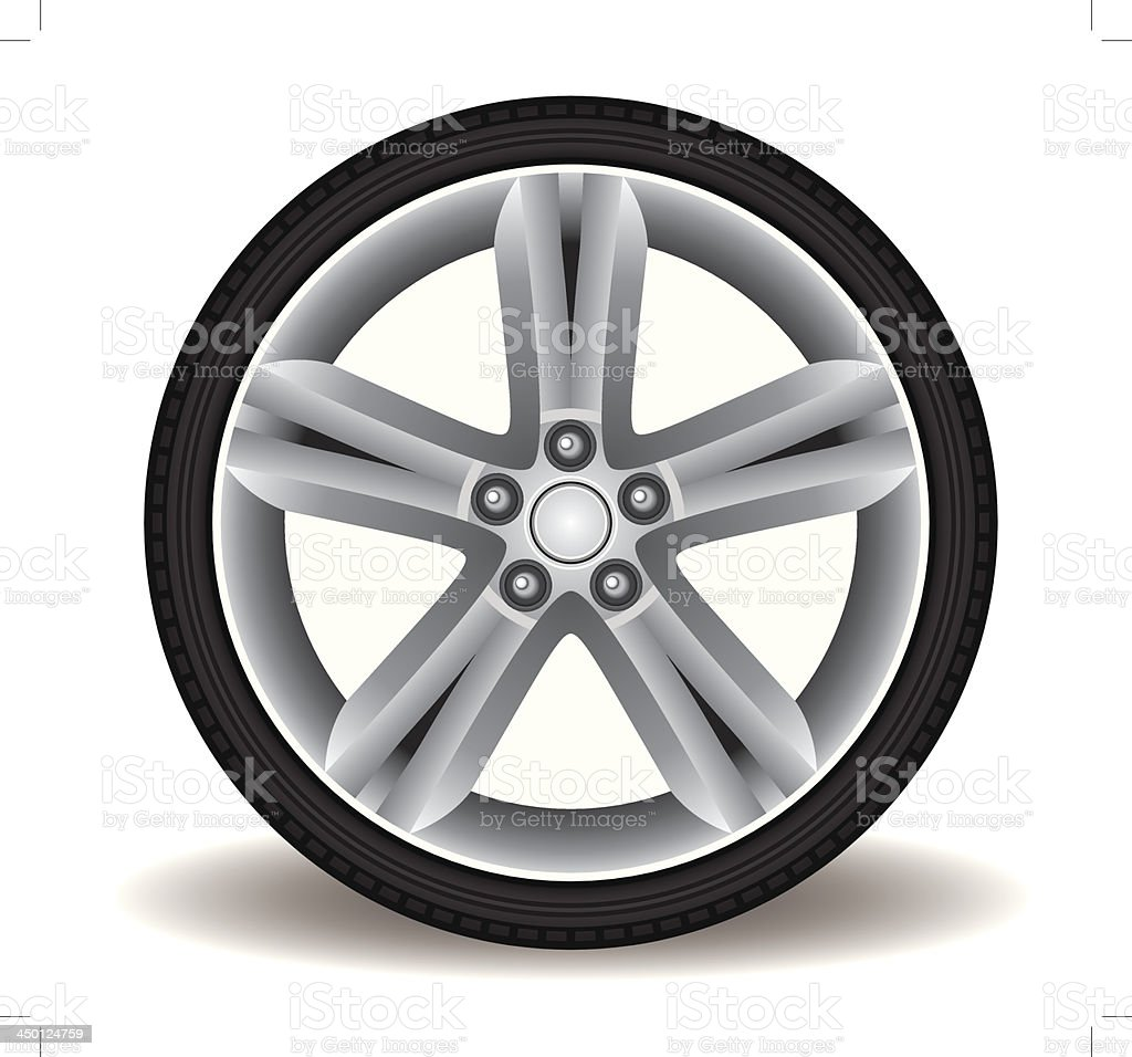 Sporty Aluminum Wheel Vector vector art illustration