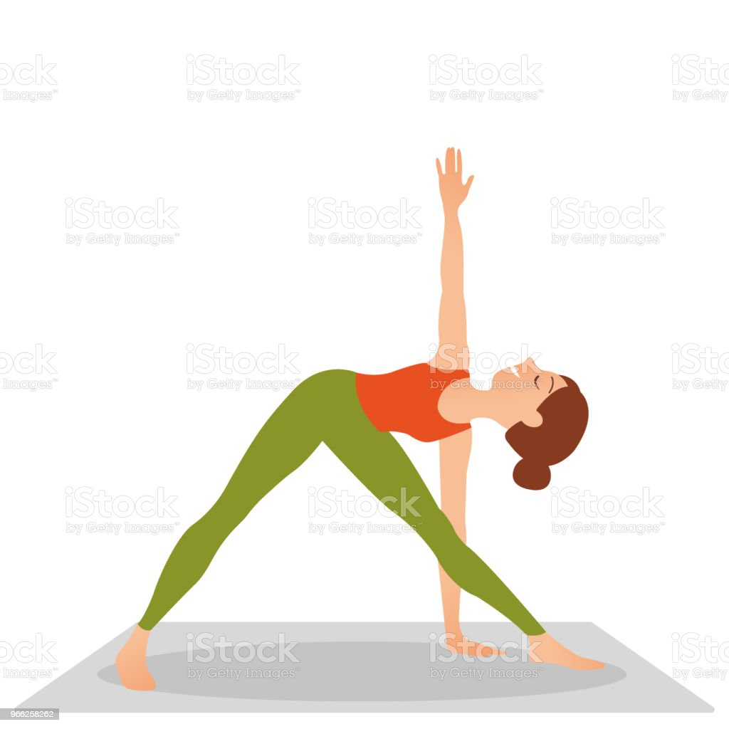 Sportive Jolie jeune femme pratiquant le yoga sportive jolie jeune femme  pratiquant le yoga – cliparts 3300b878fd4
