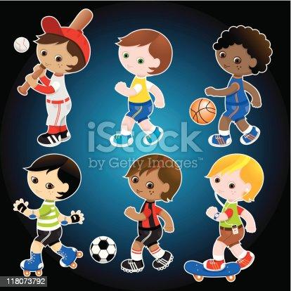 Sporty cute boys set