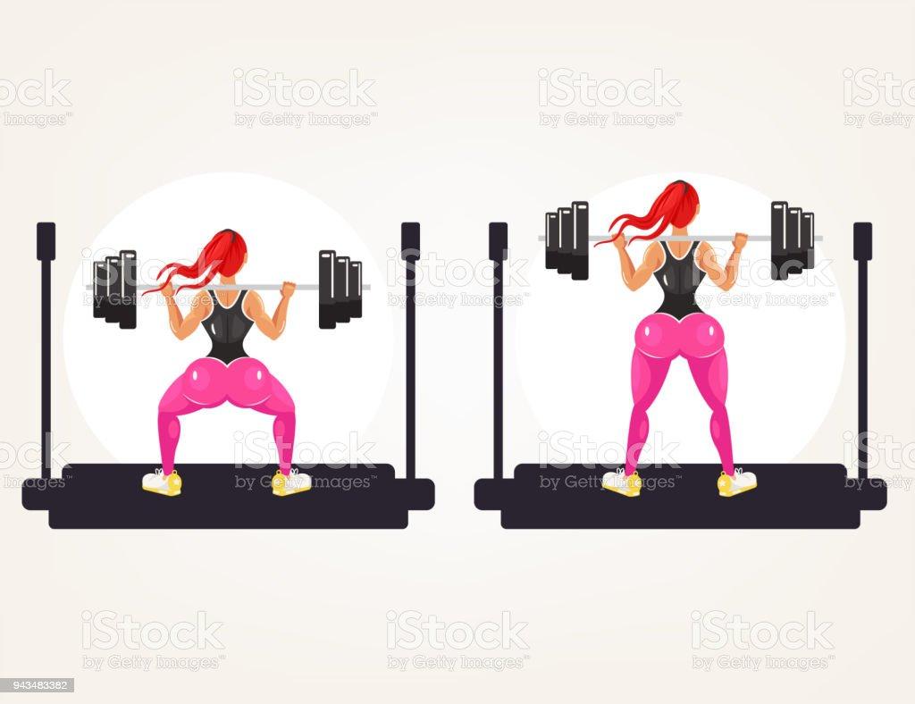 Ilustración de Deportivo Fitness Culturista Deportista Instructor ...