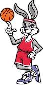 sporty look basketball rabbit