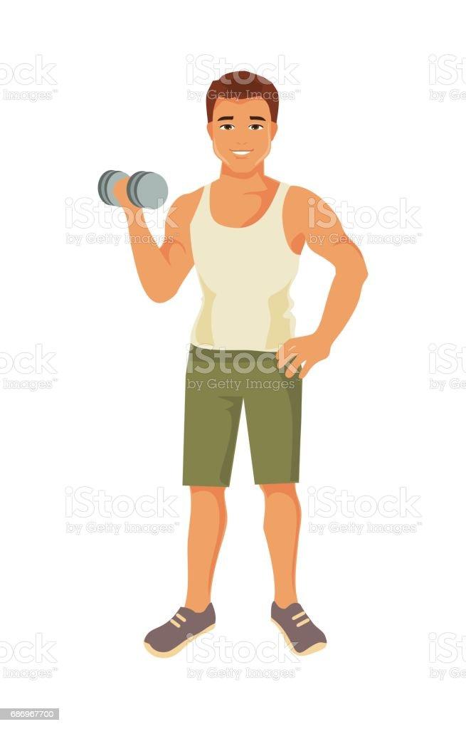 Sporty man. Vector illustration vector art illustration
