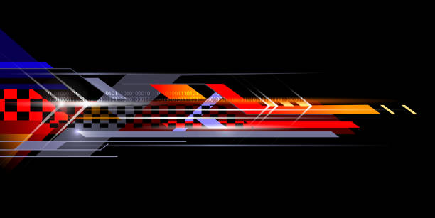 sporty speed abstract sporty background design auto racing stock illustrations