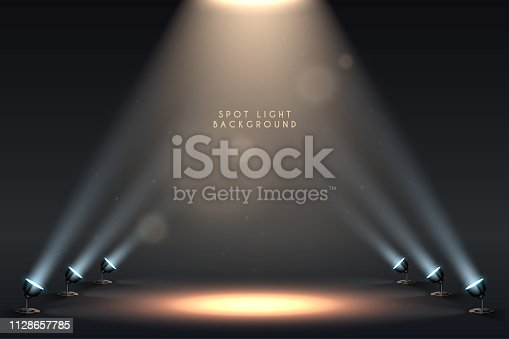 Spot light background in vector