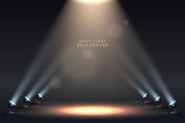 Spot light background Spot light background in vector spot lit stock illustrations