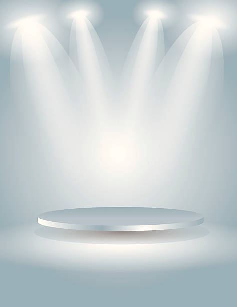 Spot light the oval stage Spot light the oval stage stage light stock illustrations