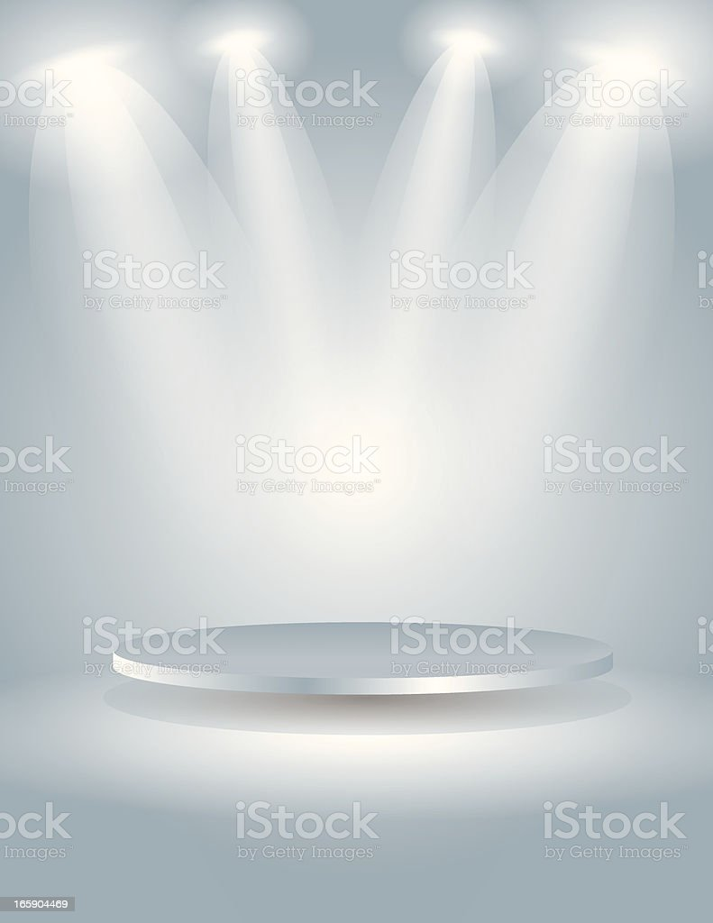 Spot light the oval stage vector art illustration