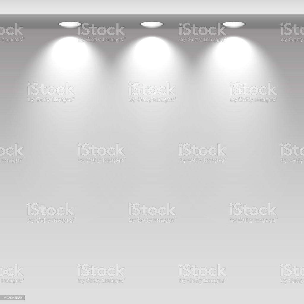 Spot lights showcas. vector art illustration