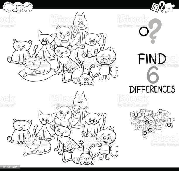 Spot the difference with cats coloring book vector id821913324?b=1&k=6&m=821913324&s=612x612&h=wljwi gnva2fkcgobdvucrkzk3 vojj8yt0dcjpdnf0=
