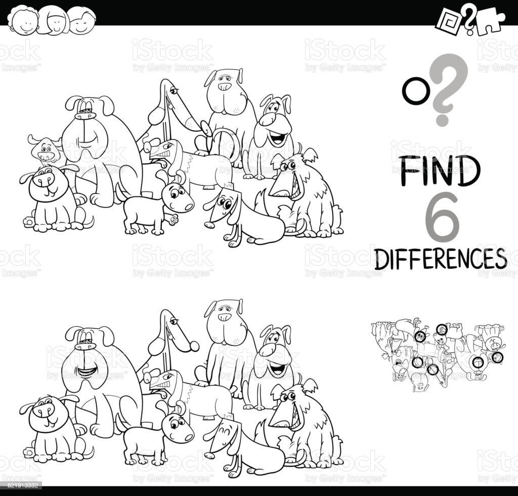 Ilustración de Busca Las Diferencias Con El Libro Para Colorear De ...