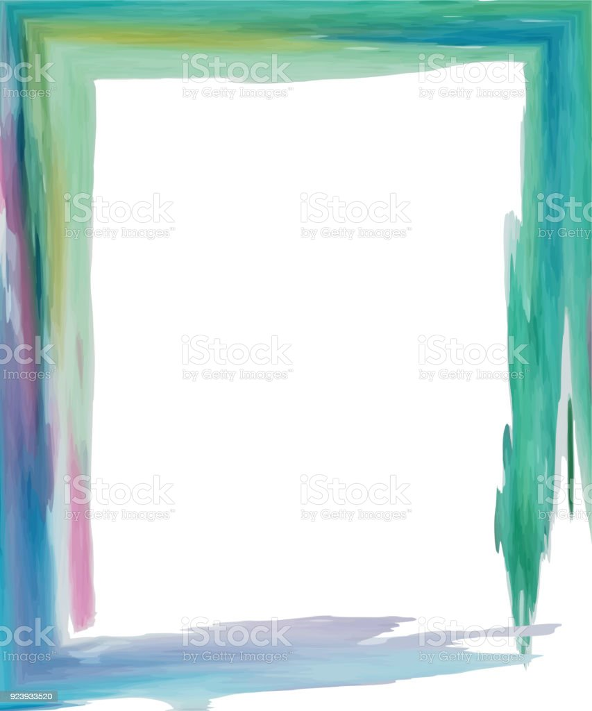 Spot Watercolor Frame Green Blue Pink Stock Vector Art & More Images ...