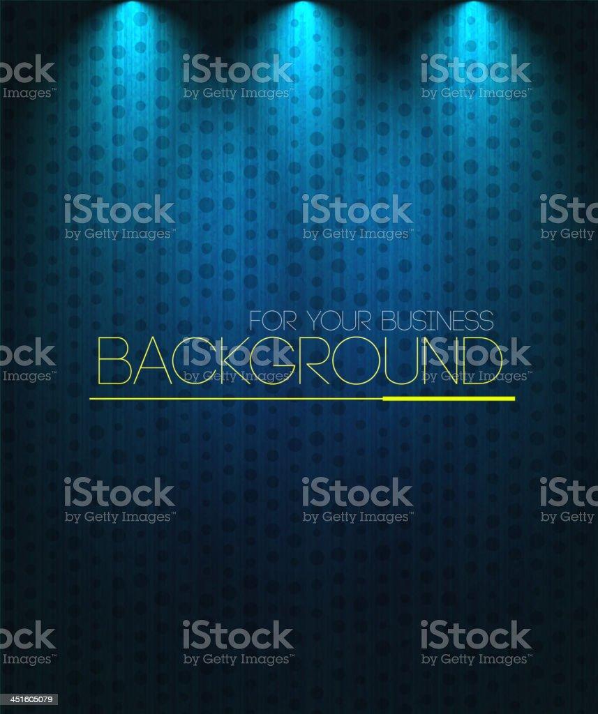 Spotlight background blue vector art illustration