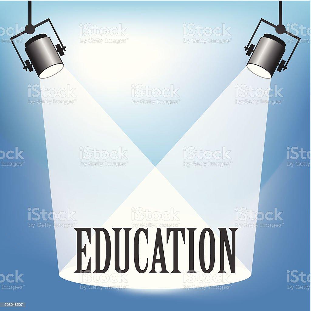 Spotlight Education vector art illustration