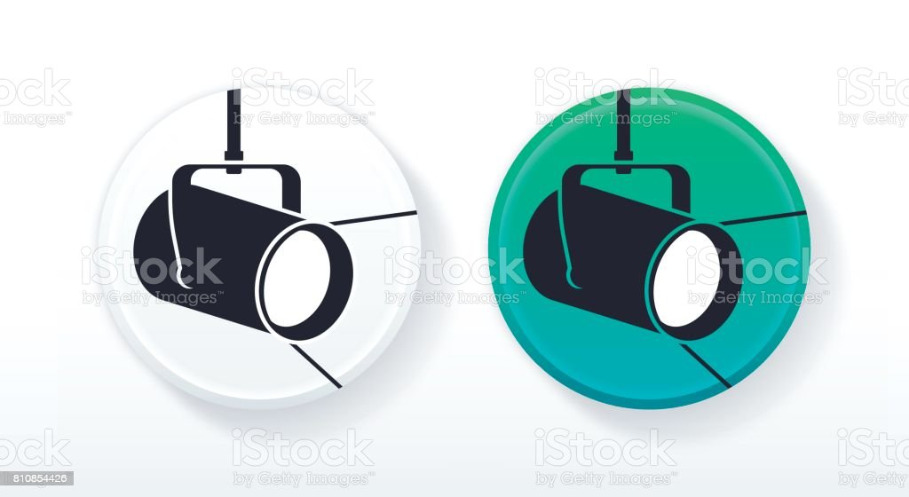 Spotlight Icon or Symbol vector art illustration