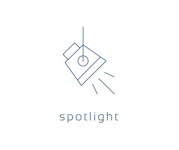 spotlight icon, Vector studio light Icon spotlight icon, Vector studio light Icon spotlight stock illustrations