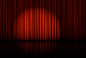 istock Spotlight on stage curtain. Vector. 877153526
