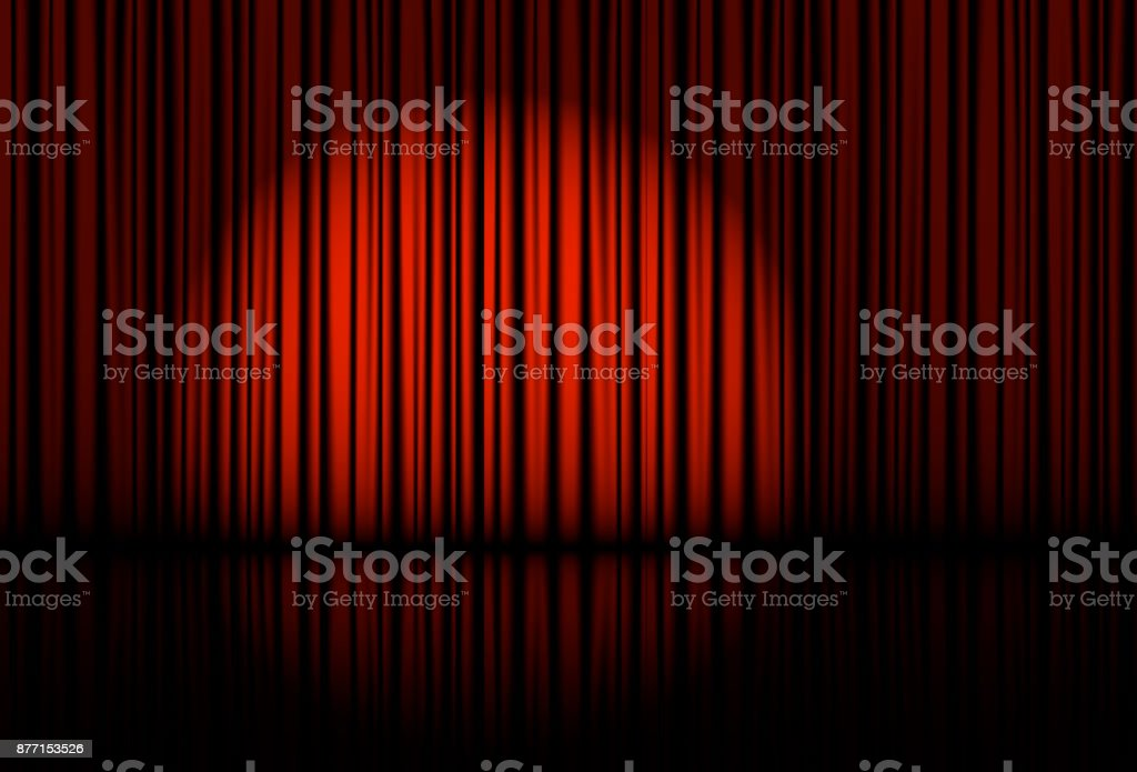 Spotlight on stage curtain. Vector. vector art illustration