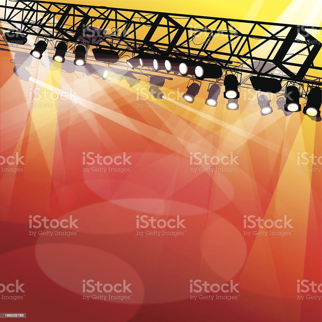 Spotlight on Stage royalty-free stock vector art