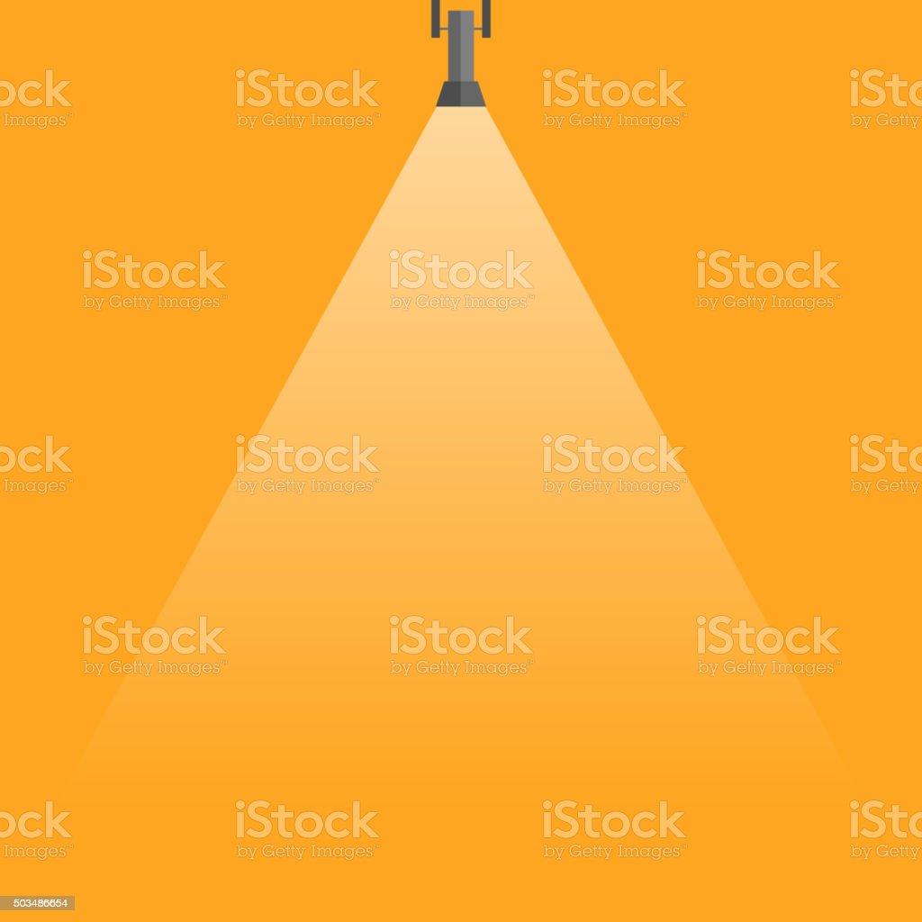 Spotlight shining down vector. vector art illustration