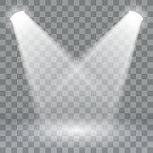 Spotlights scene light effects. Stage light spotlight vector . Vector illustration