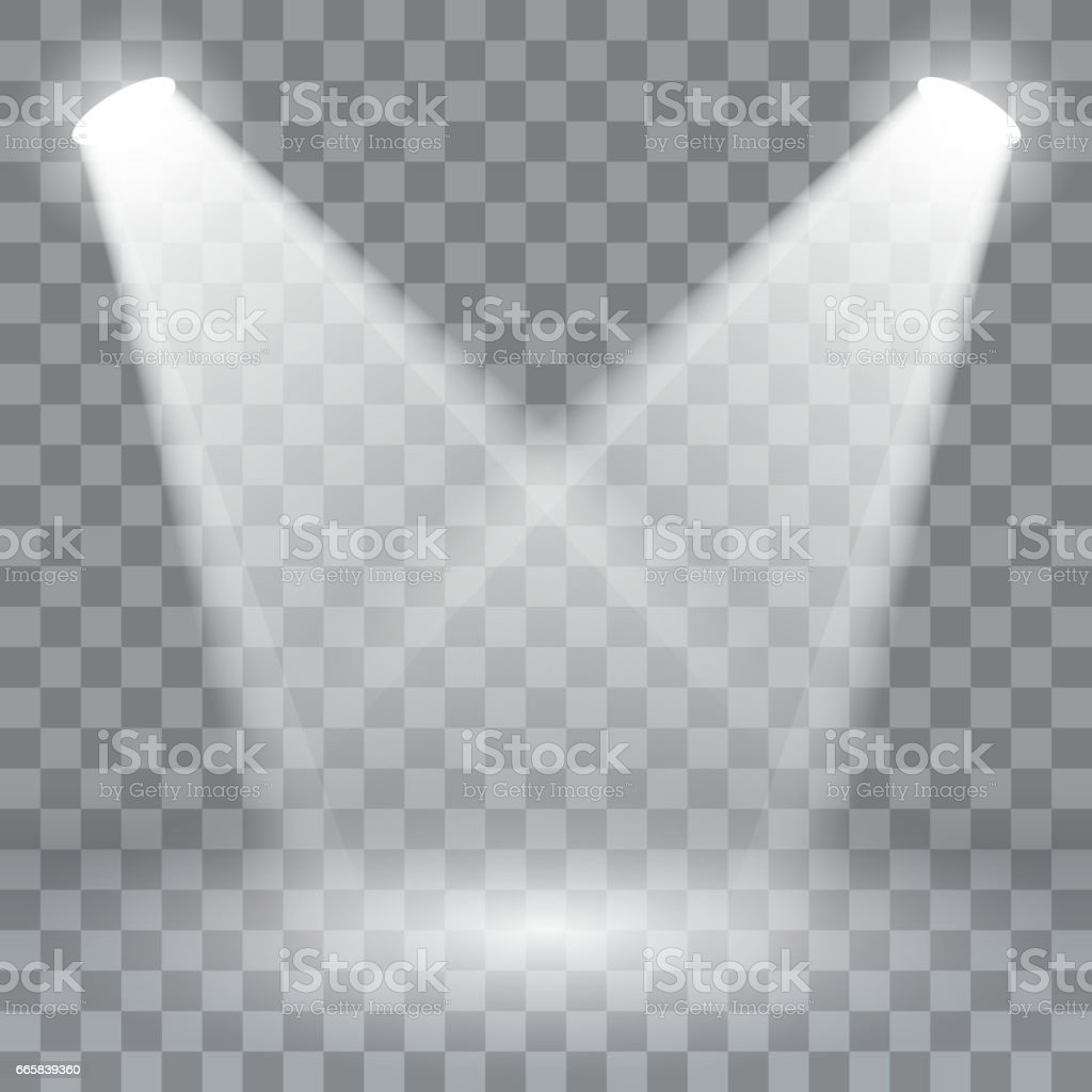 Spotlights scene light effects. Stage light spotlight vector. Vector illustration vector art illustration