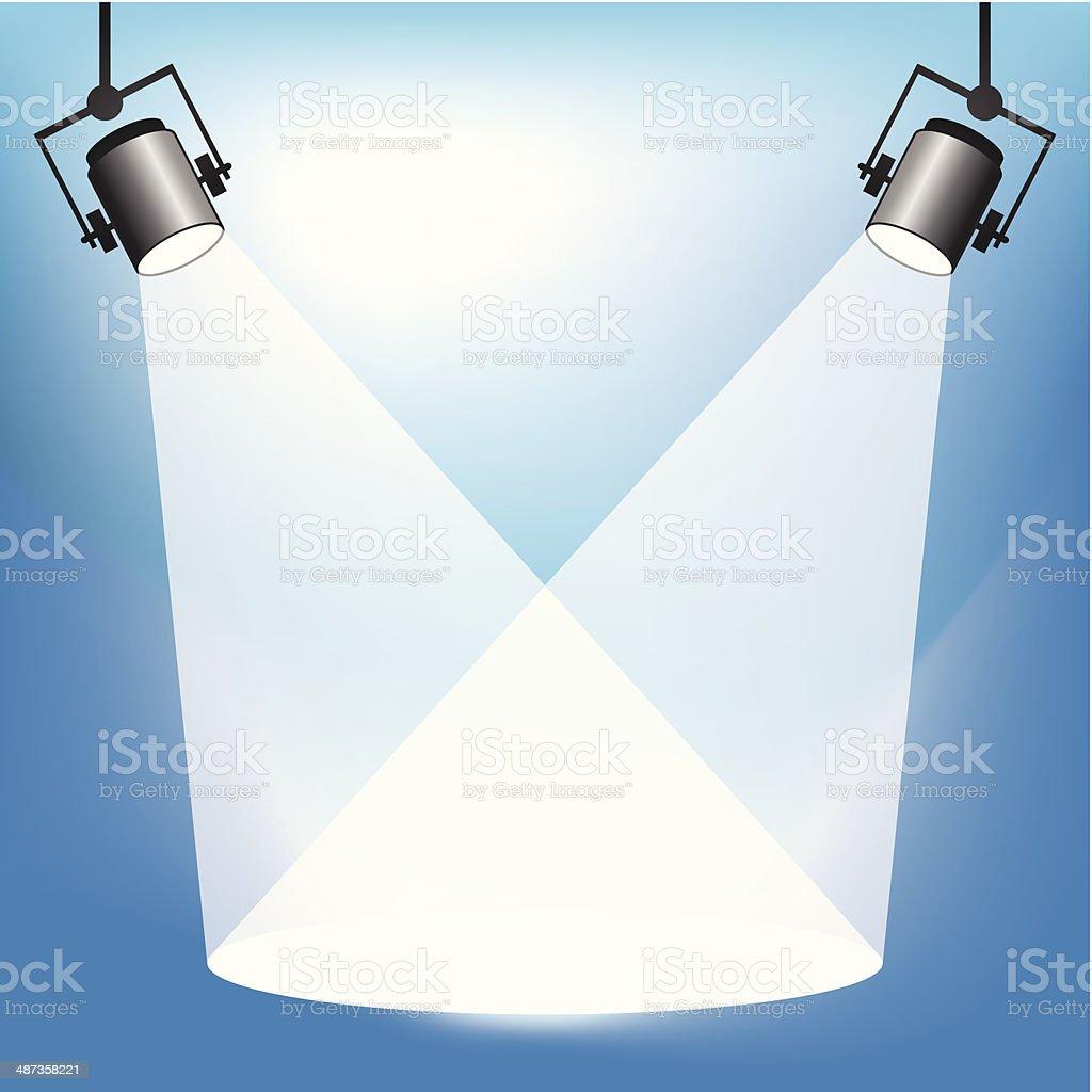 Spotlights vector art illustration