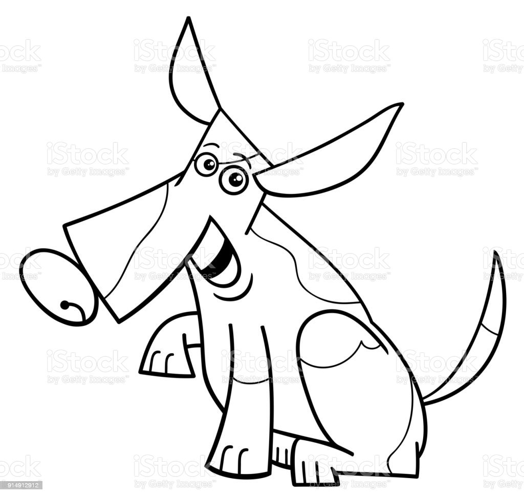 Spotted Dog Cartoon Character Coloring Book Stock Illustration - Download  Image Now - IStock