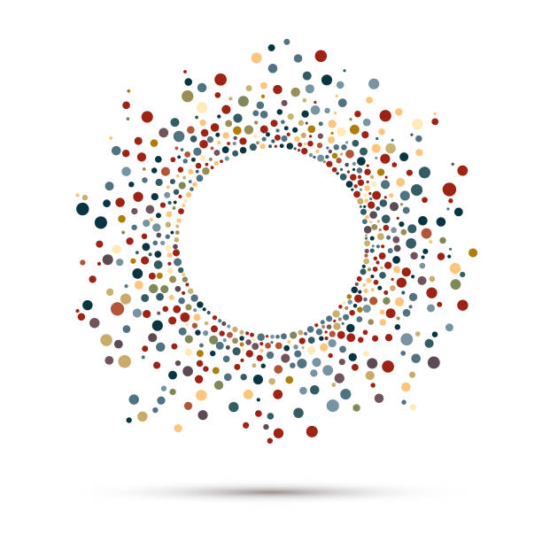 Spotted Frame Abstract Circle Frame focus stock illustrations