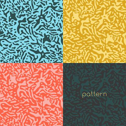 Spotted pattern vector. Beauty salon.