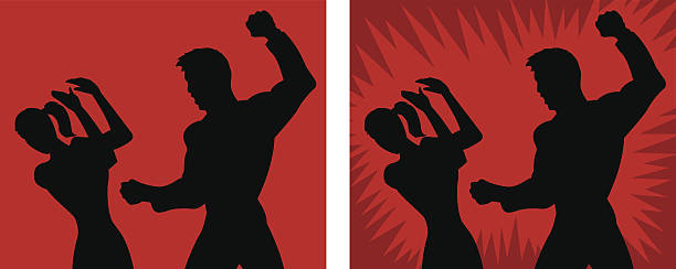 spousal abuse icon - domestic violence stock illustrations