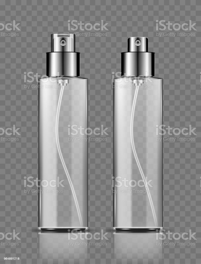 Spray bottle, blank container with spraying mist isolated on transparent background royalty-free spray bottle blank container with spraying mist isolated on transparent background stock vector art & more images of advertisement