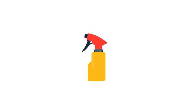 illustrazioni stock, clip art, cartoni animati e icone di tendenza di spray bottle flat icon - profumi spray