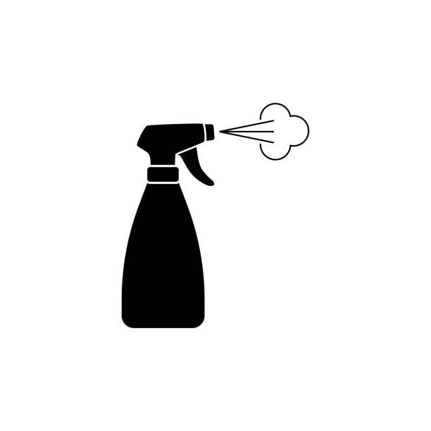 stockillustraties, clipart, cartoons en iconen met spray fles icon eenvoudig ontwerp - cell phone toilet