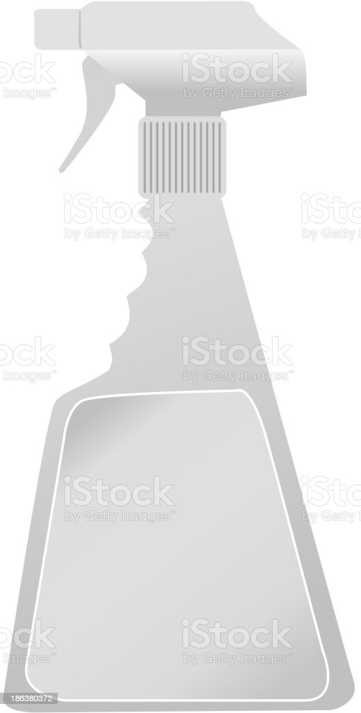 spray bottle vector art illustration