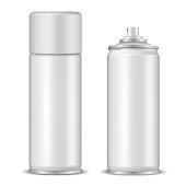 Spray bottles mockup realistic vector illustrations set