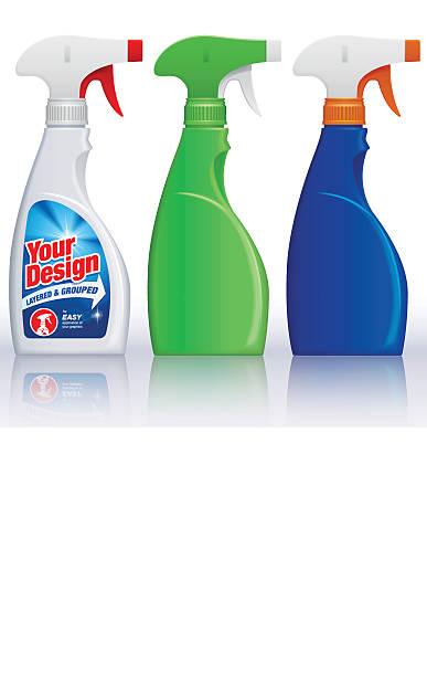 spray bottles - disinfectant stock illustrations