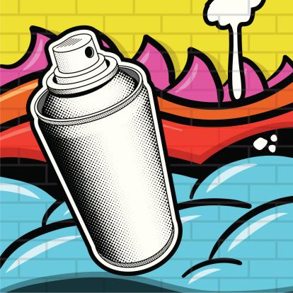 Spray Can and Grafitti