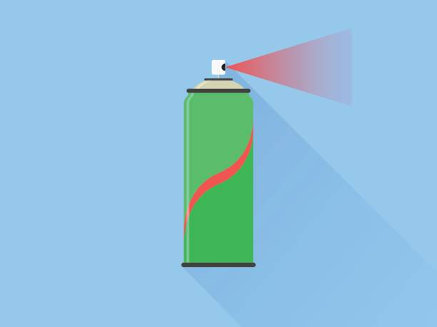 Spray Can Flat Vector Icon eps 10 aerosol can stock illustrations